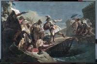 """Horatio Cocles Defending Rome against the Etruscans"" is one of a pair of paintings by a follower of Giovanni Battista Tiepolo expected by bring $200,000 to $300,000 at auction when the Cleveland Museum of Art sells it on Jan.  27."