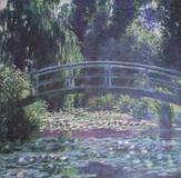 "Monet's ""Japanese Footbridge Over the Water-Lily Pond at Giverny"" (1899)."