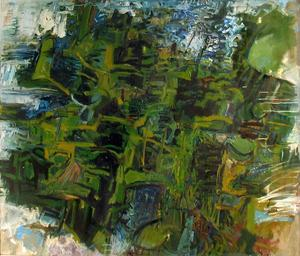 William Pachner // The Forrest 1961 // Oil on canvas // 50.5 x 42.75 inches