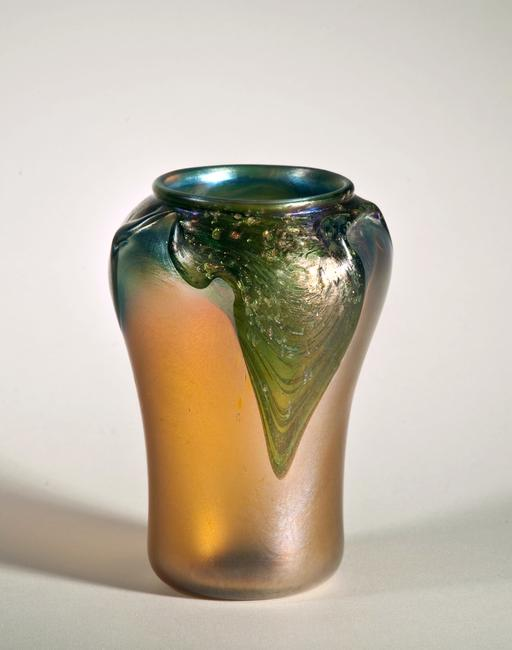 A c.  1910 vase from Tiffany Studios, a recent acquisition that will be presented for the first time in the Morse Museum's new exhibition, Iridescence—A Celebration.
