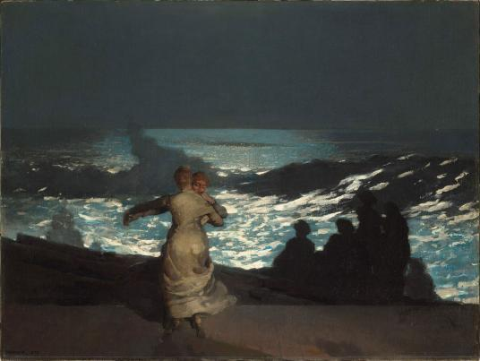 Winslow Homer, Summer Night, 1890.  Oil on canvas.  Paris, Musée d'Orsay, TL41627.  Photo: © RMN-Grand Palais (Musée d'Orsay)/Hervé Lewandowski.