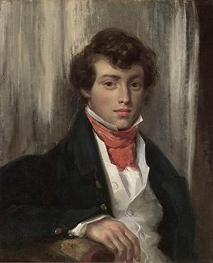 Eugène Delacroix, Portrait of Charles de Verninac, ca.  1826.  Oil on canvas, 24 ¼ x 19 7/8 in.  (61.6 x 50.5 cm).  FAMSF, museum purchase, Roscoe and Margaret Oakes Income Fund, 2014.80