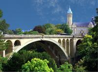 Adolphe Bridge in Luxembourg, where the Art Collection Fund will be headquartered.