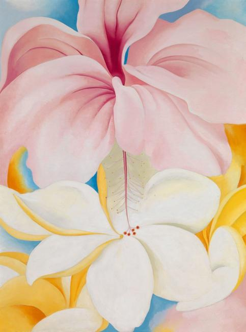 Georgia O'Keeffe, Hibiscus with Plumeria, 1939, Oil on canvas, 40 x 30 in., Smithsonian American Art Museum, Gift of Sam Rose and Julie Walters, 2004.30.6 © 2018 Georgia O'Keeffe Museum / Artists Rights Society (ARS), New York