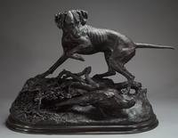 "Jules Moigniez's ""Pointer Marking a Pheasant"" from the collection of Geraldine Rockefeller Dodge."