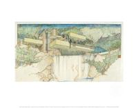 Fallingwater archival print from the Frank Lloyd Wright Collection®