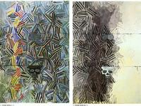 "Jasper Johns' ""Tantric Detail I"" and ""Tantric Detail II"""