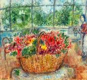 Marc Chagall, Basket of Flowers, at the AVENUE Antiques & Art Show at the Armory Show