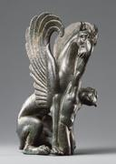 Statuette of a Griffin with an Airmasp, 125 – 75 B.C.  Creator unknown (Greek).  Bronze.  Object height: 7.9 cm (3 1/8 in.).  The J.  Paul Getty Museum, Villa Collection, Malibu, California, Gift of Barbara and Lawrence Fleischman