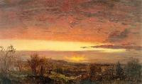 Frederic E.  Church,Sunrise, 1847, oil on paper.  Olana State Historic Site, Hudson, NY OL.1978.11