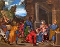 Battista Dossi (Ferrara, c.1475-1548) The Adoration of the Magi Oil on panel, 54.6 x 68.8 cm, 27½ x 27 ins