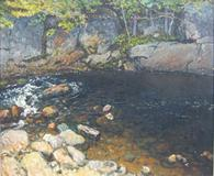 John Joseph Enneking's Forest Pool.