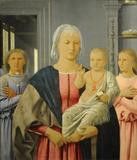 Madonna and Child with Two Angels (Senigallia Madonna) by Piero della Francesca (Italian, Sansepolcro ca.  1412–1492 Sansepolcro)