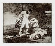 Francisco Goya.  Y no hai remedio (And There Is No Remedy) from The Disasters of War, 1st edition, plate 15, ca.  1811-12 (printed 1863).  Etching, drypoint, burin, and lavis, 5 11/16 x 6 1/2 in.  Pomona College Museum of Art, Gift of Mr.  Norton Simon, P74.67