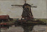 "Piet Mondrian's 1905 ""Mill"" was stolen from Greece's National Gallery on Jan.  9, 2012."