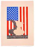 Untitled, 2000, Linoleum cut , 22 ½ x 16 ¾ inches, Edition of 38, Low Road Studio 6 , Art Jasper Johns and LRS/Licensed by VAGA, New York, NY, Published by Low Road Studio