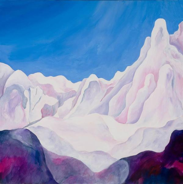 Jerry Anderson, Cappadocia 2 Mystical Landscape, Acrylic on Canvas, 24'' x 24''