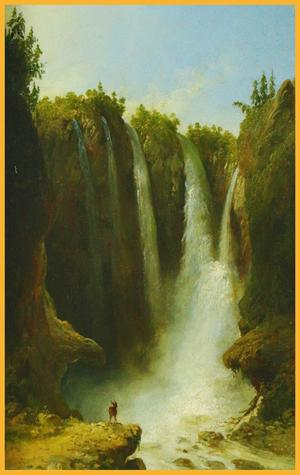 This oil on board painting by John Gadsby Chapman (Am./It., 1808-1889), titled Peyton Falls, Va., was rendered in 1862.  It will be sold at auction Feb.  14-16.