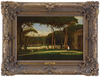 George Inness, The Villa Borghese, Rome, 1871, at the James Julia auction.