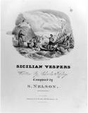 Fitz Henry Lane, Sicilian Vespers, 1832, lithograph.