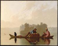 George Caleb Bingham (1811–1879) Fur Traders Descending the Missouri, 1845.  Oil on canvas.