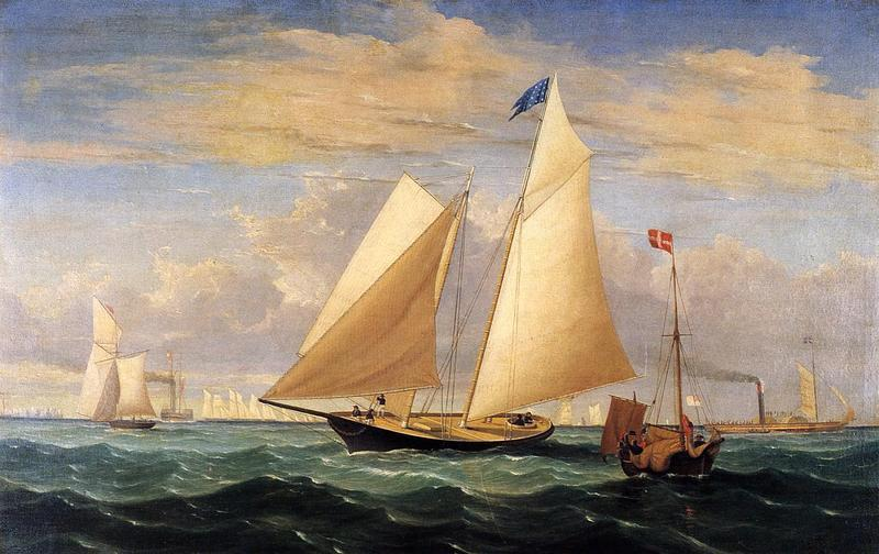 "Fitz Henry Lane, The Yacht ""America"" Winning the International Race, 1851.  Collection of Peabody Essex Museum."