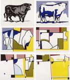 """""""Bull Profile Series"""" (1973) by Roy Lichtenstein."""