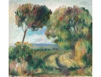 Pierre-Auguste Renoir's Paysage, Arbres et Lande au Fonde, 1892