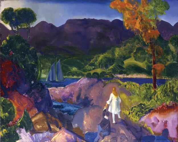 "George Bellows's ""Romance of Autumn"" in ""Directors' Cut"" at Portland Museum of Art."