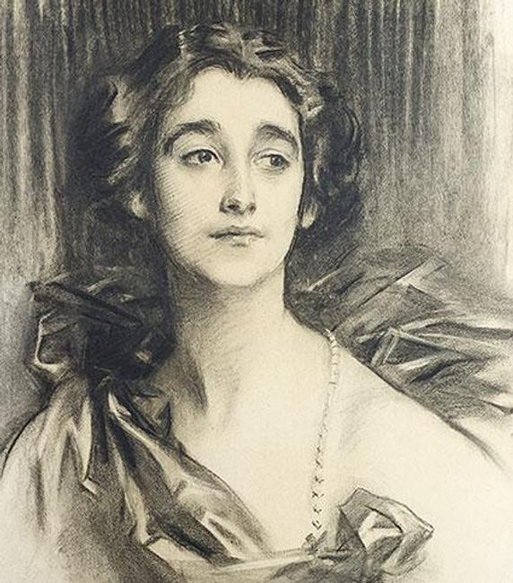 John Singer Sargent, Sybil Sassoon, later Marchioness of Chomondeley, 1912, charcoal, Private Collection.