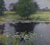 Willard Metcalf (1858–1925) Pond Lilies, 1905.  Oil on canvas.