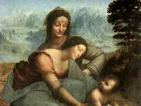 Virgin and Child with Saint Anne by Leonardo da Vinci.