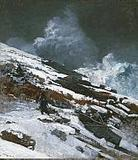 Winter Coast, 1890.  Winslow Homer, American, 1836 - 1910.  Oil on canvas, 36 1/8 x 31 11/16 inches (91.8 x 80.5 cm).  Philadelphia Museum of Art, John G.  Johnson Collection, 1917.