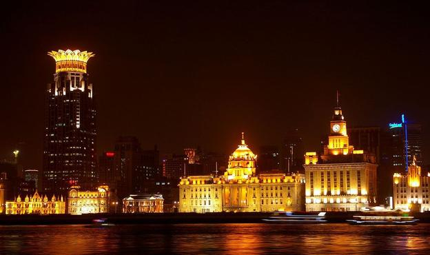 The Bund in Shanghai, seen from Lujiazui