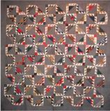 Barrister's Block quilt c.  1880s