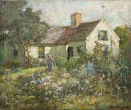 Abbot Graves (1859 – 1936) A Cottage on the Cape Oil on canvas, 25 1/8 x 30 1/8 inches Signed lower right, circa 1928