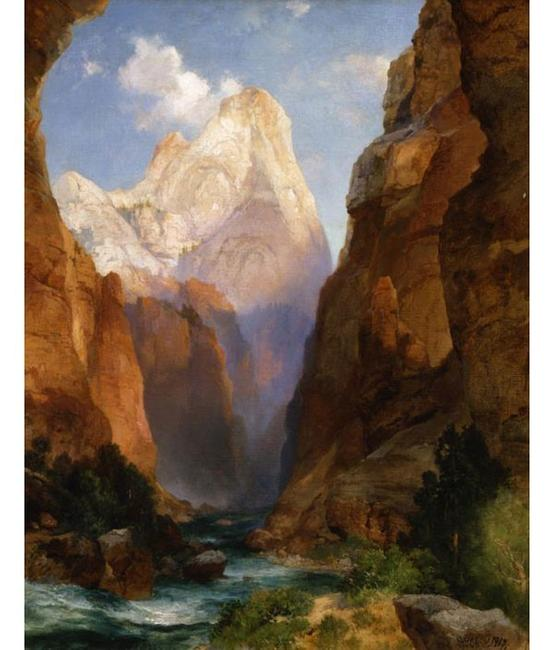 Thomas Moran, The Rio Virgin, Southern Utah, 1917 in The Coeur d'Alene Art Auction's Fine Western & American Art sale July 29, 2017 with an estimate of $600,000-900,000
