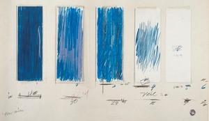 Cy Twombly at The Morgan.  Cy Twombly.  Untitled (1970).  Crayon, pencil, colored pencil, and ink on cut, torn, and folded papers with tapes on paper.  The Menil Collection, Houston, Gift of the artist.  ©Cy Twombly Foundation.