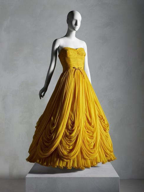 Evening Dress, Jean Dessès (French, born Egypt, 1904– 1970), fall/winter 1953–54; Promised gift of Sandy Schreier.  Photo © Nicholas Alan Cope / Courtesy of the Metropolitan Museum of Art