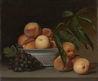 Raphaelle Peale (1774-1825), Peaches and Grapes in a Chinese Export Basket, 1812, Amon Carter Museum of American Art, Fort Worth, Texas, Acquisition in memory of Ruth Carter Stevenson, President of the Board of Trustees, 1961-2013, with funds provided by the Ruth Carter Stevenson Memorial and Endowment Funds, 2014-7