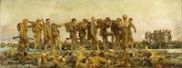 """John Singer Sargent, """"Gassed,"""" 1919."""