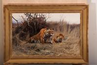 Friedrich Wilhelm Kuhnert (1865-1926), Roused, A Tiger and Tigress, 1912, Estimate: $150/250,000, Realized: $333,500