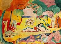Henri Matisse, Le bonheur de vivre, 1905-6, Oil on canvas.  175 x 241 cm.  In the collection of the Barnes Foundation.