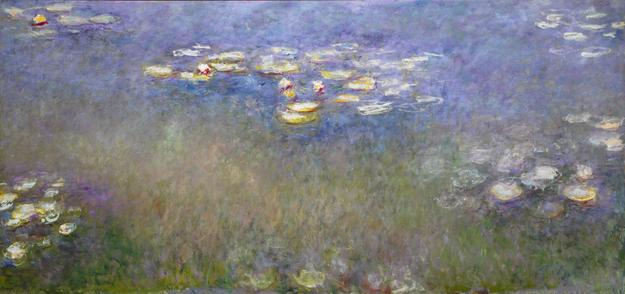 Claude Monet, French, 1840-1926; Water Lilies, c.  1915-26; oil on canvas, 78 3/4 x 13 ft.  11 3/4 in.  Saint Louis Art Museum, The Steinberg Charitable Fund, 134:1956