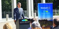 Don Bacigalupi, Crystal Bridges executive director, announced on July 28 a $20 million grant from Walmart for free admission to the museum which opens on 11-11-11 in Bentonville, Ark.