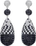 Drop earrings set in 18k White Gold.  39.71 total carat weight Courtesy of Viggi