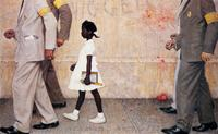 """The Problem We All Live With,"" Look Magazine, 1964.  (Norman Rockwell Family Agency)"