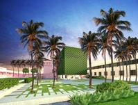 Rendering of the Helga Wall-Apelt Center for Asian Art under construction at The Ringling.