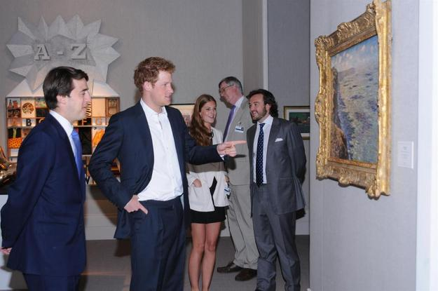 Image left to right: Wenty Beaumont, director, Dickinson and Prince Harry