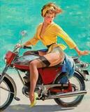 Gil Elvgren's Skirting the Issue (Breezing Up), 1956 brought $176,500 .